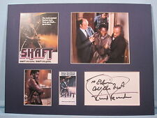 Shaft starring Richard Roundtree as Shaft and his autograph