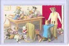 MAINZER ANTHROPOMORPHIC CATS TAILOR POSTCARD #4894 NEW YORK