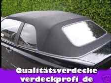 VW Golf 3 Cabrio Verdeckbezug Stoff schwarz incl. Anleitung Verdeck Dach     A