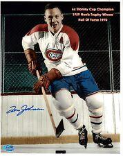 Tom Johnson Autographed 8x10 Montreal Canadiens Photo HOF SGC
