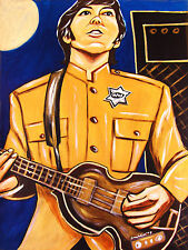 PAUL McCARTNEY PRINT poster beatles cd shea stadium concert hofner violin bass