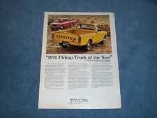 "1974 Toyota Hi-Lux Pickup Truck Vintage Ad ""...Truck of the Year"""