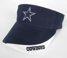 DALLAS COWBOYS NFL NAVY/WHITE 2-TONE VINTAGE TWINS GAME DAY VISOR CAP HAT NWT!