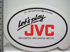 Aufkleber Sticker JVC - VHS - Video-Audio (5042)
