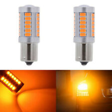 2 PY21W Amber,Orange LED 1156 33SMD Bulb Indicator Turn-Signal Brake Lamp BAU15S