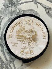 Ancien Rouleau de Ruban noir  Le Tigre - XIXe - Mercerie Couture Collection