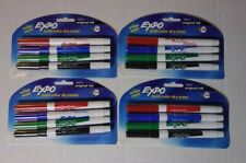Expo Dry Erase Bold Color Markers Fine Tip New Lot Of 4 Packs New
