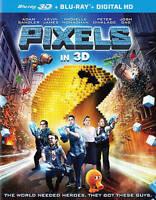 Pixels (Blu-ray Disc, 2015, 2-Disc Set, 3D)