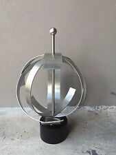 70'S SPACE AGE GEO ORB KINETIC ALUMINUM SCULPTURE CURTIS JERE ERA