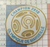 France Patch Badge blanc Ligue 1 maillot de foot de L'OM Champion 2010 10/11