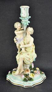 Antique Meissen Dresden SItzendorf figural candlestick with Madonn(BI#MK/180508)