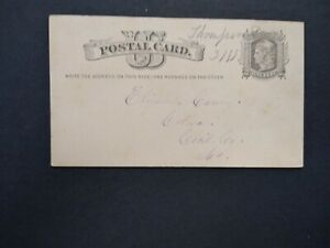 Delaware: Thompson 1870s Postal Card, Ms, DPO New Castle Co