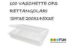 VASCHETTE OPS RETTANGOLARI PLASTICA 'SH'35 200X145X35 PZ100 ALIMENTI