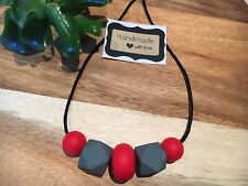 Silicone Sensory (was teething) Necklace for Mum Jewellery Bead Aus Gift On Sale