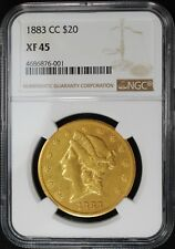 1883-CC $20 LIBERTY HEAD GOLD DOUBLE EAGLE, NGC XF45