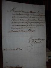 Lettera autografo di Vittorio Amedeo II di Savoia al marchese Albergati 1708