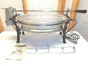 Vintage BLACK ANGUS Open Pit Electric Broiler & Rotisserie~Model 100825
