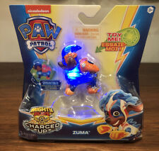 New! Nickelodeon Paw Patrol Mighty Pups Charged Up Zuma by Spin Master HTF
