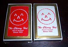 ADVERTISING PLAYING CARDS THE CHERRY HUT BEULAH MI SINCE 1922 GEMACO BRIDGE USA