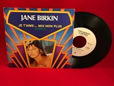 "SERGE GAINSBOURG & JANE BIRKIN Je T'aime... Moi Non Plus 1980  7"" Vinyl Single"