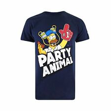 """The Simpsons """"PARTY ANIMAL"""" Official Mens TShirt"""
