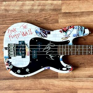 ROGER WATERS Signed FENDER Bass Guitar JSA LOA TRUE 1/1 Wall Graphic Pink Floyd