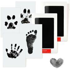 2 Pcs Baby Handprint and Footprint Kit, Clean Touch Inkpad Baby Imprint Kits,...