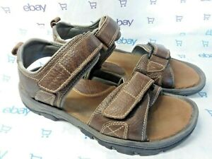 ROCKPORT Walking Sandal Brown Leather size 9  FREE SHIPPING