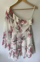 STEELE Gorgeous One Shoulder Botanica Floral Dress Size S 8