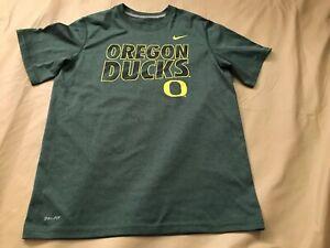 Nike Dri-Fit Boy's Legend Large Oregon Ducks Short Sleeve Scoop Neck Tshirt