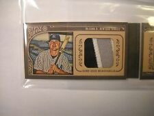 2015 TOPPS GYPSY QUEEN BRIAN McCANN MINI AUTO 3 COLOR PATCH BOOKLET #/25 YANKS*