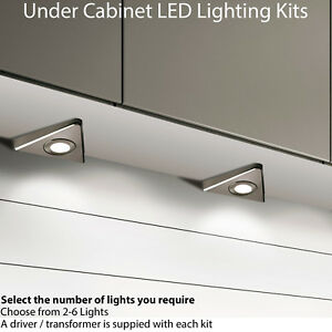 2.6W LED Kitchen Triangle Light & Driver Kits - Stainless Steel - Warm White