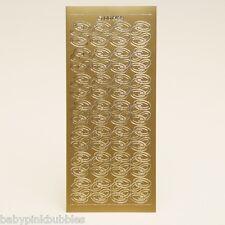 2 feuilles-anneaux de mariage peel off stickers-or