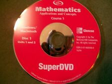Glencoe Mathematics Course 1 Disc 1 Units 1 and 2 SuperDvd (Windows & Mac)