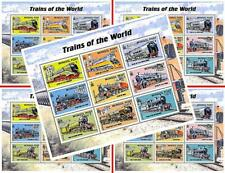$$ wholesale $$ MONGOLIA 2000 Vintage TRAINS of the WORLD X5 m/s MNH