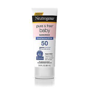 Neutrogena Pure & Free Baby Mineral Sunscreen Broad Spectrum SPF 50 3 Fl. Oz