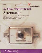 RadioShack 15-678 75-Ohm Bidirectional Attenuator Improves TV/UHF/VHF Reception