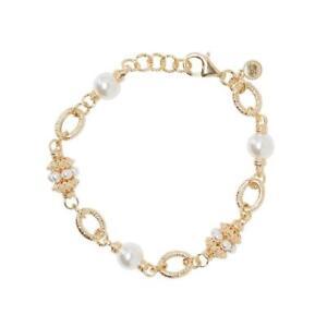 Soru Vincenzina Bracelet 24ct Yellow gold plated silver and Swarovski pearl