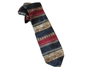 "Raphael Roma/Milano 58"" Length 100% silk Men's Tie, colorful striped pattern"