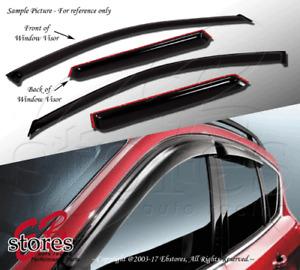 Smoke Tinted Out-Channel Vent Visor Deflector 4pcs For 2011-2016 Subaru Impreza