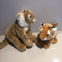 Ark Toys Premier Collection Tiger Sitting Soft Plush Toy Nature Planet Cuddly