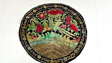 ANTIQUE CHINESE ROUND SILK EMBROIDERY PHEASAND ,SYMBOL ON TOP RANK BADGE