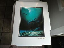Wyland Children Of The Sea Print 11x 14 Vintage New in Plastic gold stamp signed