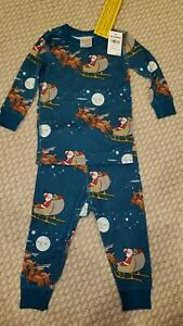 NEW Hanna Andersson Pajama 2-piece PJ size 75 12-18 months Holiday Christmas