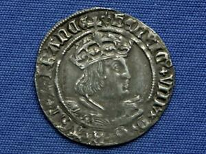 Henry VIII Groat - 2nd coinage - Tower mint - Bust D - mm lis