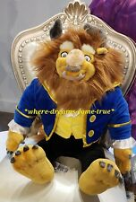 """Disney Parks Authentic BEAST Large Plush Toy 23"""" from """"Beauty and the Beast"""" NEW"""