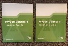 K12 PHYSICAL SCIENCE 8 TEACHER GUIDE (Semester 1 & 2) Set of 2--BRAND NEW