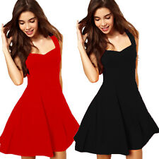 NEW Women Black Mini Dress Lace Sleeveless Party Cocktail Evening Bodycon Prom