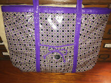 """Vera Bradley FRILL """"TAKE ME WITH YOU"""" Tote Excellent Pre Owned PURPLE PUNCH"""