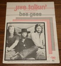 BEE GEES JIVE TALKIN ORIGINAL 4-PAGE UK SONG SHEET MUSIC 1975